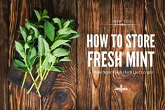 How to Store Fresh Mint (and Make Your Fresh Herbs Last Longer) Watermelon Mint Feta Salad, Tea For Digestion, Bountiful Baskets, Basil Recipes, Beef Salad, Fresh Mint Leaves, Drying Herbs, Fresh Herbs, Make It Yourself