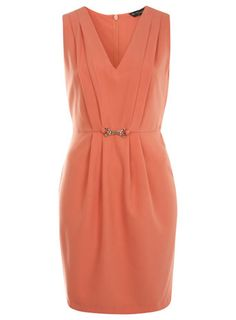 love this simple coral pencil dress for work.  $74