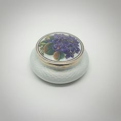 K. Faberge White Opal Guilloche Enamel Solid 84 Russian Silver Box W/Painted Foliate & Floral Scene