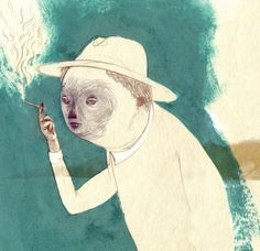 Owen Gent illustration. I like the mix of the mediums, yet the colors are neutral, giving a tender impression.