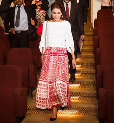 Queen Rania attended the graduation ceremony at QRTA