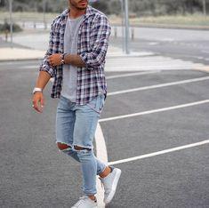 Streetwear Magazine, Streetwear Fashion, Streetwear Men, Herren Style, Flannel Outfits, Herren Outfit, Casual Street Style, Trendy Style, Style For Men