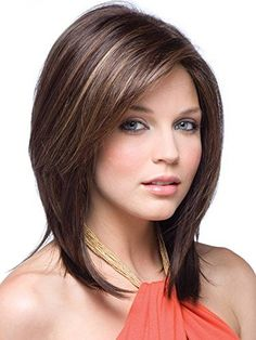 Jackson is a mid-length layered style with feminine attitude, the cut features a modern teased look with subtle ends and gives the look and feel of natural hair. This Jackson wig has stunning styling and is available in a wide range of colors. Trending Hairstyles, Bob Hairstyles, Straight Hairstyles, Long Layered Hair, Long Hair Cuts, Layered Bobs, Aline Bob, Curly Hair Styles, Natural Hair Styles