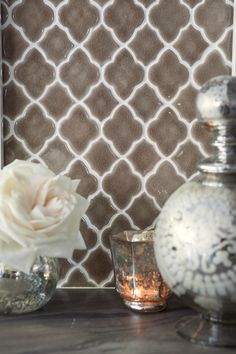 Love this for bathroom or kitchen... grey glass tile from walker zanger