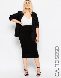 Search for ASOS CURVE black pencil skirt at ASOS. Shop from over styles, including ASOS CURVE black pencil skirt. Discover the latest women's and men's fashion online Midi Dress Outfit, Pencil Skirt Outfits, Plus Size Fashion For Women, Plus Size Womens Clothing, Clothes For Women, Size Clothing, Curvy Outfits, Plus Size Outfits, Moda Feminina Plus Size