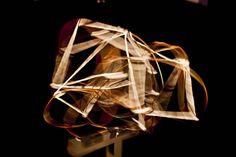 Cubic / Heart / Rondo / Stomach. Aus der Serie Looping. 2013 Rotierende Raumcollagen aus Draht, Gitter, Klebeband, Schnur, Formrohr und teilweise Schwarzlicht Skulptur, Objekt, Video, Installation, Fotografie Markus Wintersberger. 2013 by Markus Wintersberger, via Flickr