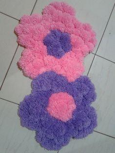 tapete flor de pompom