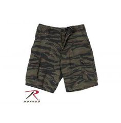 Rothco Vintage Camo Paratrooper Cargo Shorts - Tiger Stripe Camo  Only $28.99  *Price subject to change without notice.