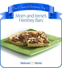 "On the fifth day of Christmas, my fellow associate gave to me … Mom and Irene's Hershey Bars! ""By the time I was born, my mother was working in the family [store] with my dad and grandfather. So they hired help to cook and clean. Her name was Irene, and she let me help her #bake. The family favorite was the 'Hershey Bar' recipe!"" says Charlotte K. of Store 1760 in Folsom, Calif. #12DaysOfChristmasTreats #dessert"