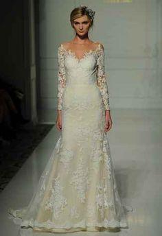 Pronovias's Fall 2016 Wedding Dress Collection Is Sheer Romance | TheKnot.com