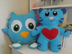 Adorable Daniel Tiger Characters, Tigey and O Owl - Made to Order - Free Freight