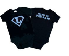 Superhero Boy  One Piece Bodysuit. Great Baby by funkycoolthreads, $20.00