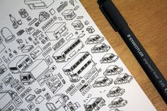 Hidden Folks - Illustration Elements - SpriteSheet - City Thematic