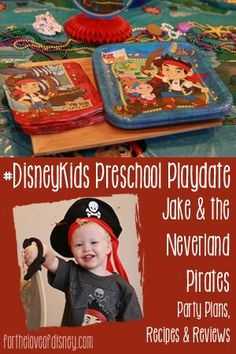 "Plan a ""Jake and the Neverland Pirates"" Playdate or with these fun ideas, recipes and activities! Pirate Preschool, Pirate Movies, Party Themes, Party Ideas, Themed Parties, Family Fun Night, Disney Birthday, Disney Junior, Pirate Party"