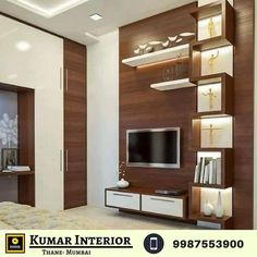 New home ? planning to interior new home? You will find out all the solution for your requirements under one roof at reasonable cost.Affordable Home Interior BHK Home Interior pkg Start - Home Interior Pkg start Book an App Lcd Unit Design, Lcd Panel Design, Wall Unit Designs, Living Room Tv Unit Designs, Tv Unit For Bedroom, Modern Tv Cabinet, Modern Tv Wall Units, Tv Cabinet Design, Tv Wall Design