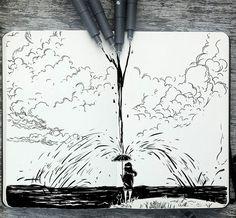 Si l'on a déjà souvent vu passer de nombreux projets 365, il faut que avouer que les superbes illustrations de Gabriel Picolo sont vraiment magnifiques ! Av