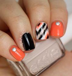 the nail polish challenge: Ikat Skittle using BornPrettyStore Studs august 8