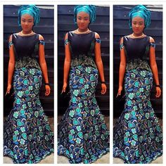 Beautiful Ankara Long Gown Style >>See More Styles>> http://www.dezangozone.com/2015/04/beautiful-ankara-long-gown-style.html