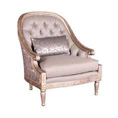 Two toned pink/lavender Dobsen Bouquet Dana Accent Chair