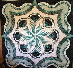Rainbow Hosta Queen, Quiltworx.com, Made by Teresa Hougardy