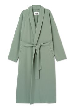 The Naomi Coat is a light wrap coat for the unstable transitional weather. It has a V-neck with slim lapels, a waist belt, a loose shoulder yoke and two side pockets. Only Fashion, Kpop Fashion, Denim Fashion, Polyvore Outfits, Polyvore Fashion, Wrap Coat, Green Coat, Belted Coat, Affordable Fashion