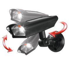 solarzauber LED Sicherheits Strahler Kamera Optik Einbrecher Schutz
