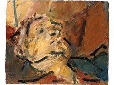Frank Auerbach - acrylic