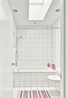 hmmm...chunky white bathroom