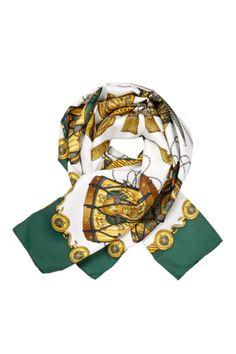 Vintage Hermes Les Tambours Silk Scarf