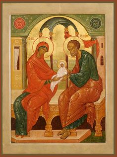 Joachim with the Theotokos Religious Paintings, Religious Art, Famous Saints, Lives Of The Saints, St Clare's, Santa Ana, Russian Icons, Blessed Virgin Mary, Fashion Painting