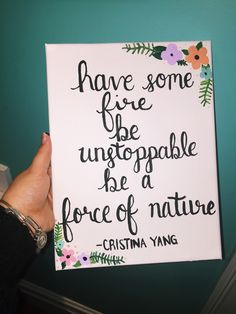 Cristina Yang Quotes. Greys Anatomy canvas