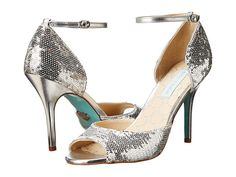 Cinderella?  Love the sequins and the soft blue sole...Blue by Betsey Johnson Wed Silver Sequins - 6pm.com