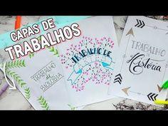 IDEIAS BONITAS PARA CAPAS DE TRABALHOS ESCOLARES - YouTube