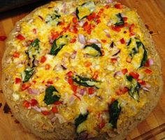 White Bean Pizza--think of it as a hummus pizza. Very tasty!