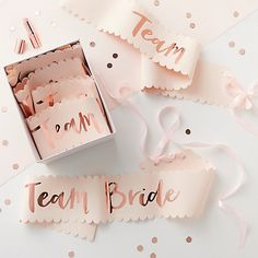 Buy Ginger Ray Team Bride Sashes, Pack of 6 Online at johnlewis.com