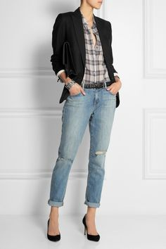 Women's casual style |  Isabel Marant|Maldy wool-gabardine blazer|NET-A-PORTER.COM