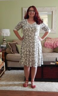 August Morning: The tattooed Lady Skater dress