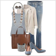 CHATA'S DAILY TIP: This is a beautiful casual-smart outfit! The toned necklace brings all the clothing colours together so beautifully. For a more casual look swop the high heels for flat pumps. COPY CREDIT: Chata Romano Image Consultant, Marida Pretorius http://chataromano.com/consultant/marida-pretorius/ IMAGE CREDIT: Stylish Eve #chataromano #imageconsultant #colour #style #fashion