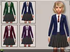 Child School Uniforms by Margie at Sims Addictions