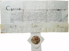 Carta de César Borgia dirigida a Leonardo da Vinci, ejemplo de una humanística cancilleresca