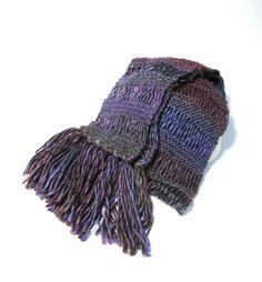 Purple And Burugundy Knit Scarf Women by ArlenesBoutique on Etsy, $55.00