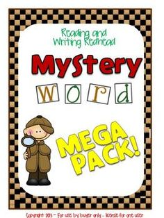 This Mega Pack contains all 9 of my Mystery Word sets at a discounted price. Each set individually costs $1.25. This mega pack costs $10, so it's like getting one for free).  Included are: (Click on each to look at the individual product)   Mystery Word: Consonant Digraphs Mystery Word: Consonant-le Mystery Word: Double Consonants Mystery Word: Double Vowels  Mystery Word: Y Endings Mystery Word: Short Vowels Mystery Word: More Short Vowels  Mystery Word: Silent e Mystery Word: Vowel…