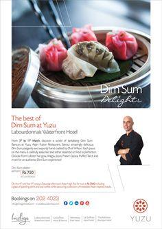 Labourdonnais Waterfront Hotel - Dim Sum Delights at Yuzu Asian Fusion Restaurant. Tel: 202 4023