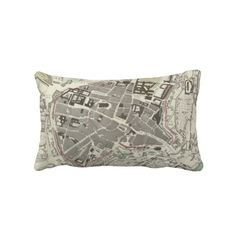 Vintage Map of Munich Germany (1832) Pillow from Zazzle.com $52.00