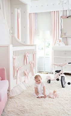 The Tufted Treatment | Pink Nursery Idea | from little moth designs