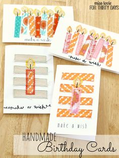 12 Handmade Birthday Card ideas! Make their birthday extra special with one of these cute handmade cards! | www.thirtyhandmadedays.com