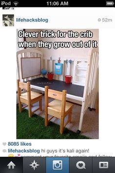 Great idea for the kids craft room!