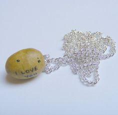 Potato Necklace I love You Necklace Potato Charm by NeatEats