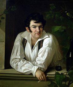 Self-portrait, 1826, by Giuseppe Tominz (Italian, 1790–1866).