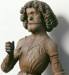 Germany (c. 1490) Anonymous German Artist - Saint Maurice.    Wood, 128 cm.  Darmstast, Hessisches Landesmuseum. | People of Color in European Art History
